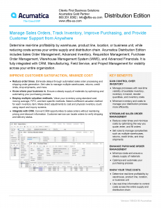 Acumatica Distribution Factsheet