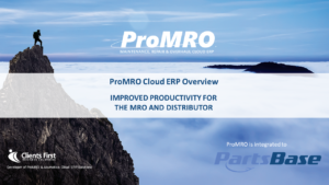 ProMRO Overview Partsbase ppt template