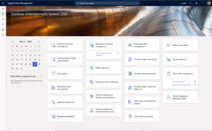 manufacturing menu dynamics 365