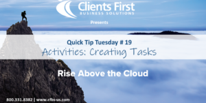 Create Tasks tutorial in Acumatica