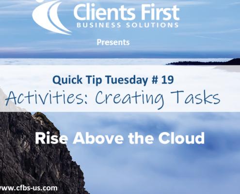 Create Tasks tutorial in Acumatica